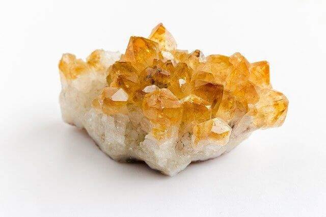 A piece of citrine gemstone crystal