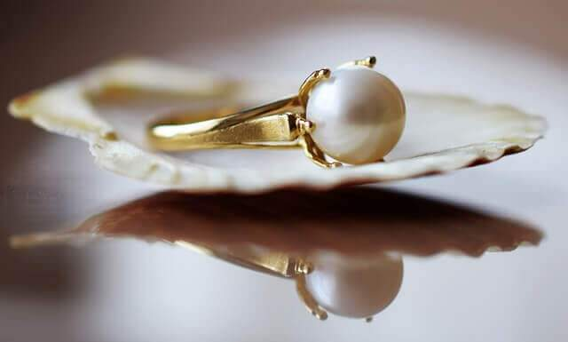 pearl ring for june birthstone