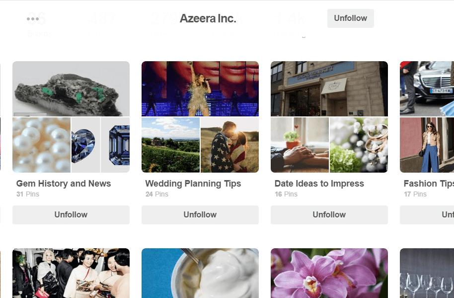 Azeera Pinterest