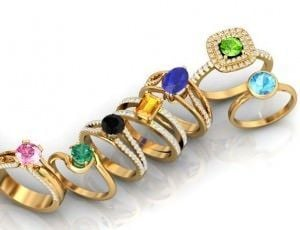 Colorful Azeera rings