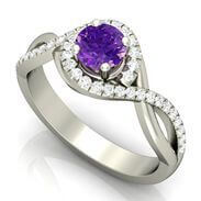 Amethyst Gemstone Engagement Ring