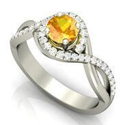 Citrine Gemstone Engagement Ring