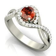 Garnet Gemstone Engagement Ring