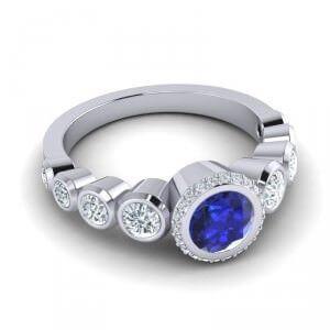 AZEERA Bezel Halo Vana Ring