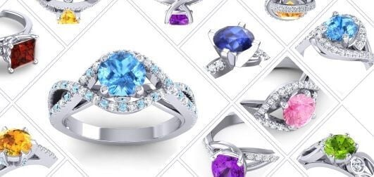Celebrity gemstone rings