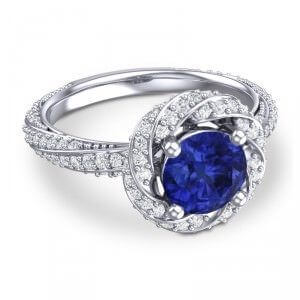 Azeera Primrose Sapphire Ring