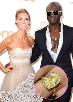 Heidi Klum Yellow Diamond Gemstone Ring