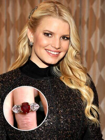 Jessica Simpson Ruby Gemstone Ring