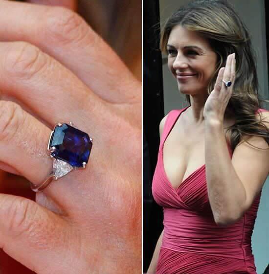 Liz Hurley sapphire ring