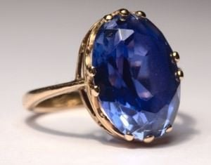 Golden Custom Sapphire Engagement Ring