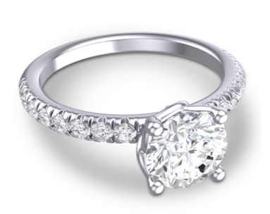 Classic Mallika Custom Engagement Ring