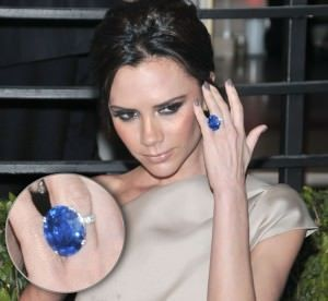 Victoria Beckham's Custom Sapphire Engagement Ring