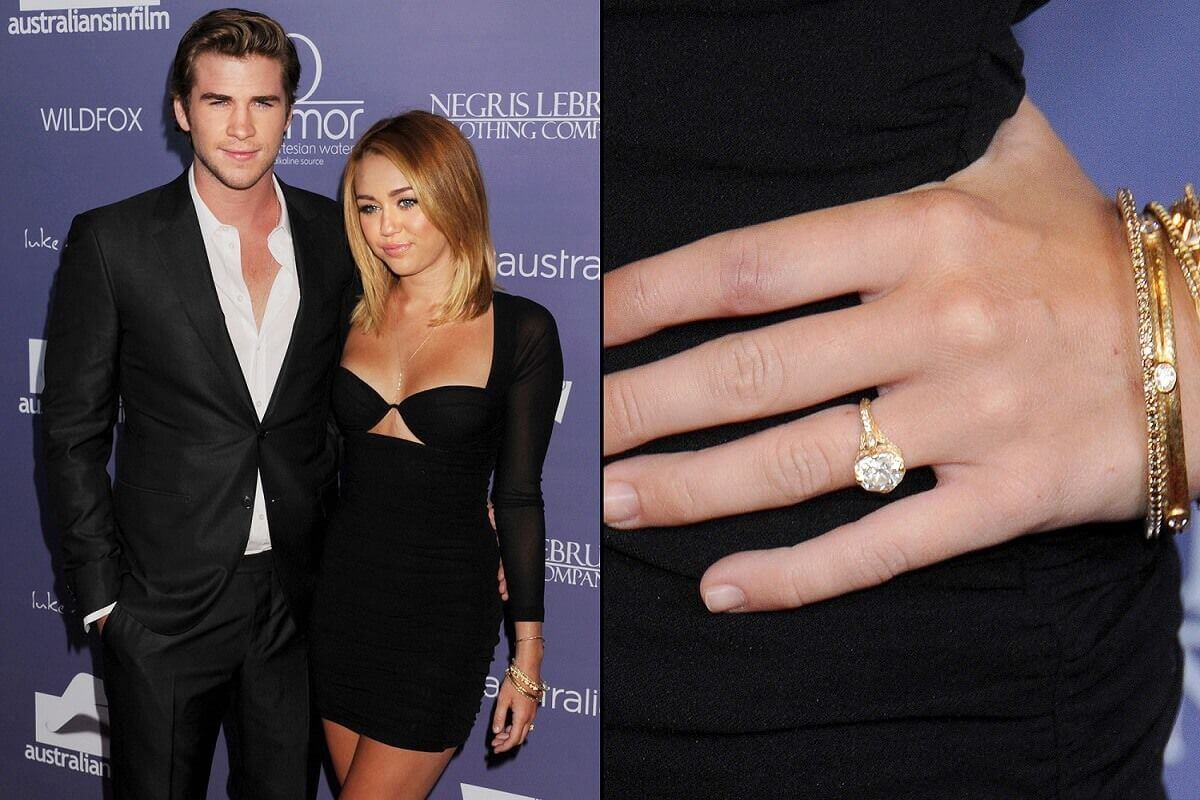 Miley Cirus Celebrity Engagement Ring
