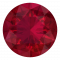 Solitaire Cabochon Bezel Mandala Ruby Ring in 14k Yellow Gold